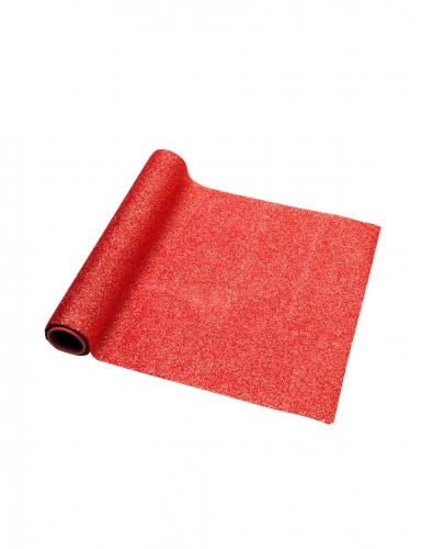 Runner da tavola scintillante rosso