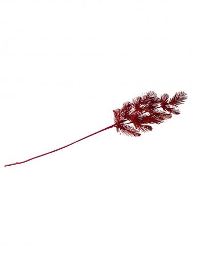 Ramo di pino con paillettes rosse 96 cm