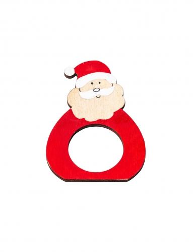 Babbo 4 Natale.4 Porta Tovaglioli In Legno Babbo Natale Su Vegaooparty Negozio Di Articoli Per Feste