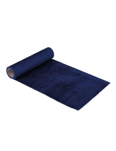 Runner da tavola in velluto blu