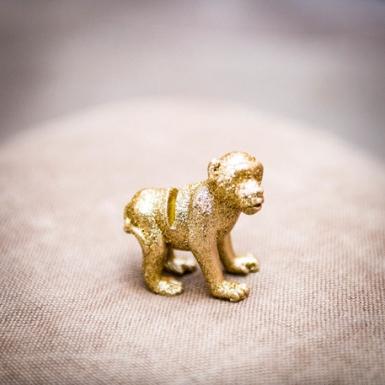 4 segnaposto scimmia in resina con brillantini oro-1