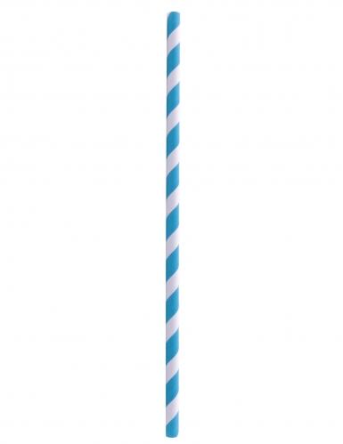 100 cannucce in cartone a righe blu e bianche