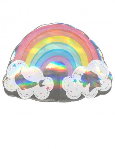 Palloncino in alluminio arcobaleno magico