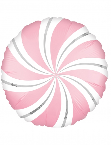 Palloncino alluminio lecca lecca bianco e rosa