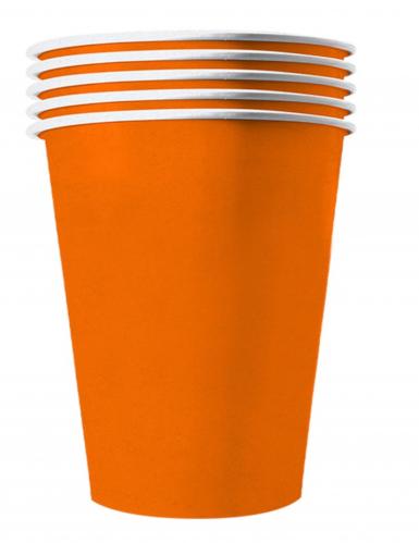 20 bicchieri in cartone riciclabile arancione