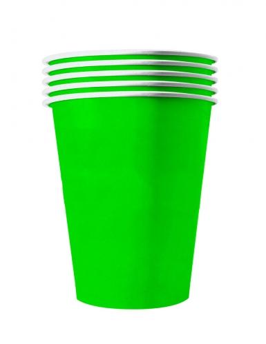 20 bicchieri in cartone riciclabile verde