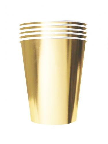 20 bicchieri in cartone riciclabile color oro