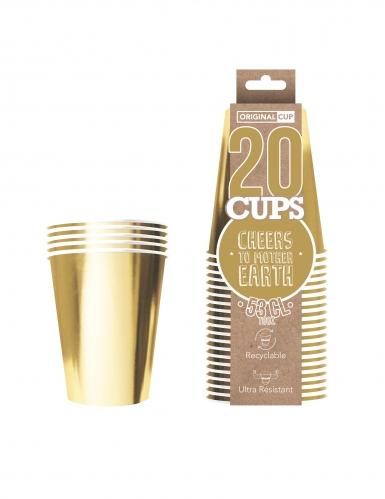 20 bicchieri in cartone riciclabile color oro-1