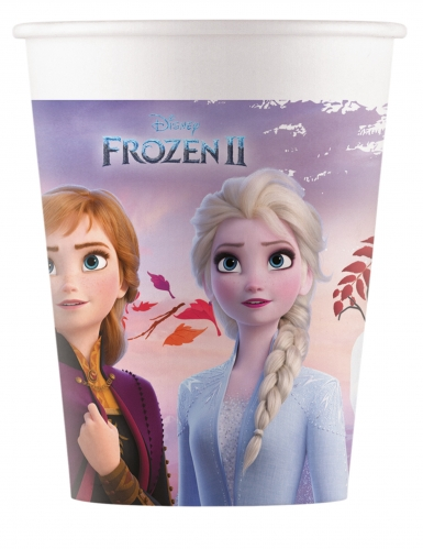 8 bicchieri in cartone compostabile Frozen 2™