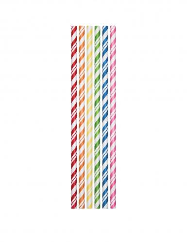 24 Cannucce in cartone flessibile multicolore 19,7 cm
