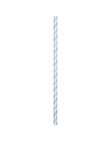 24 Cannucce in cartone flessibile azzurre 19,7 cm