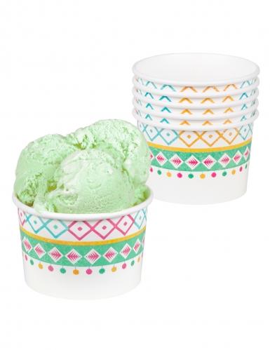 6 coppette gelato in cartone lama bianco