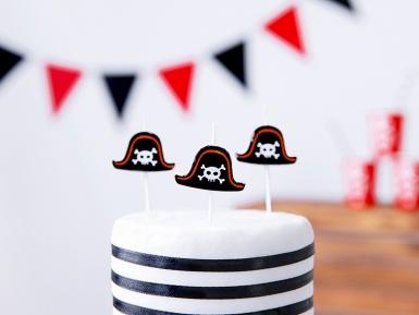 5 candeline di compleanno cappello da pirata-1
