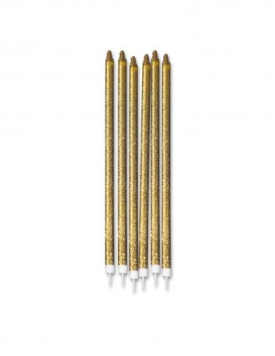 12 maxi candeline brillantini oro
