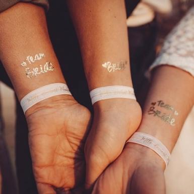 16 tatuaggi temporanei Team bride oro-1