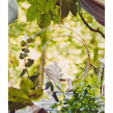 Sospensione cerchio con portacandele e eucalipto-1