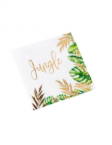 16 tovaglioli di carta Jungle verde e oro