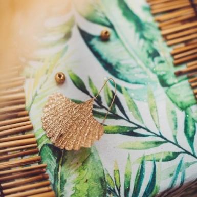 4 foglie di ginkgo paillettate -2