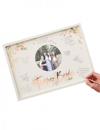 Libro per firme cornice in legno Team Bride oro rosa