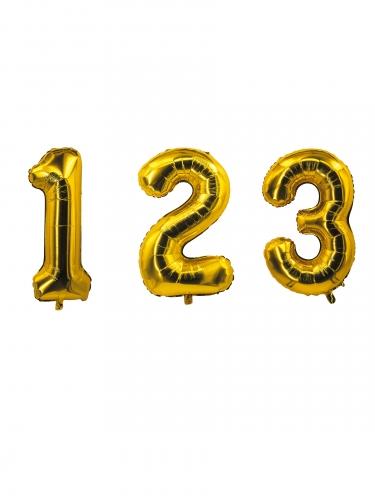 Palloncino in alluminio a forma di numero dorato 85 cm