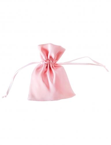 4 sacchetti satinati color rosa