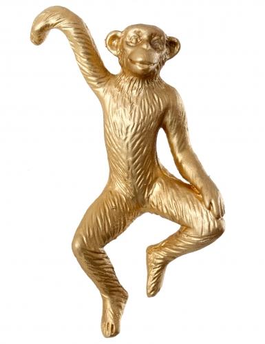 Statuina in resina scimmia oro