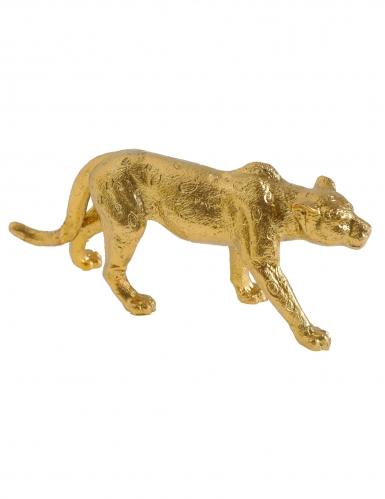 Statuina in resina leopardo