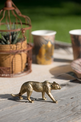 Statuina in resina leopardo-1