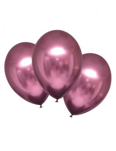 6 palloncini in lattice rosa effetto satinato