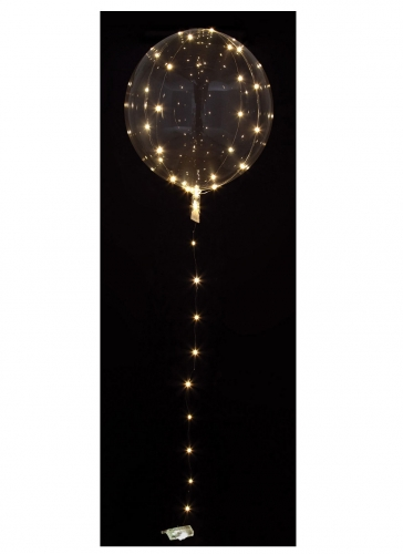 Palloncino sfera trasparente con LED bianchi
