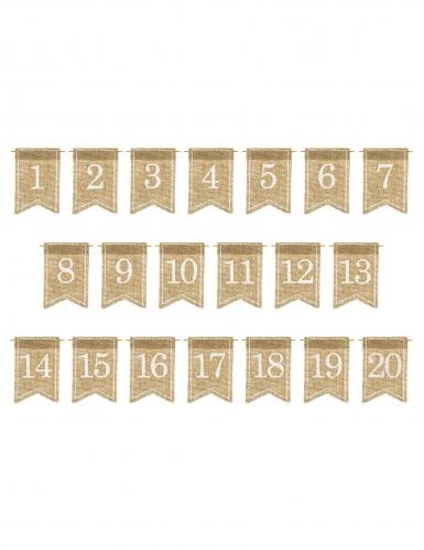 20 numeri per tavola in tela di iuta-1