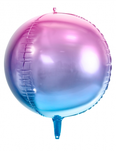 Palloncino rotondo sfumato rosa e blu