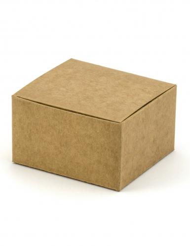 10 scatoline kraft rettangolari