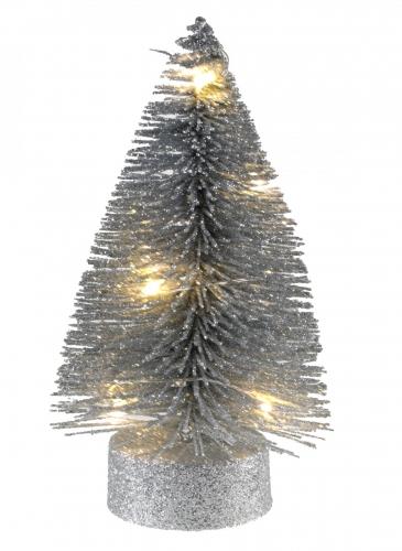 Alberello luminoso in metallo argento