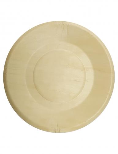 4 piatti di legno 21 cm