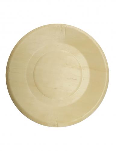 4 piattini di legno 19 cm