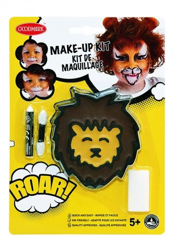 Kit trucco leone con applicatore e spugnetta bambino