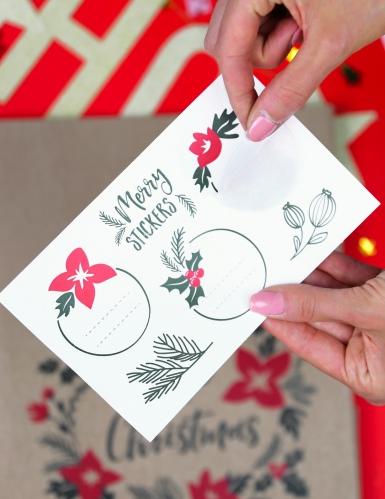 3 sacchetti regalo kraft Merry Little Christmas-1