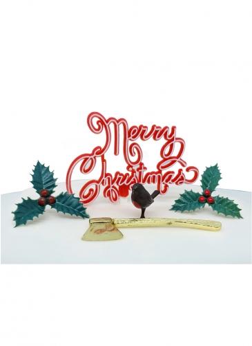 Kit decorazioni per dolci Merry Christmas