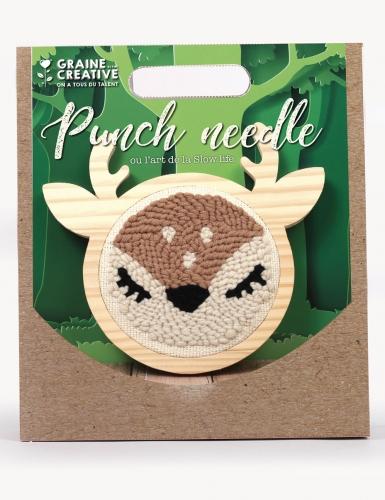 Kit cucito Punch Needle cervo