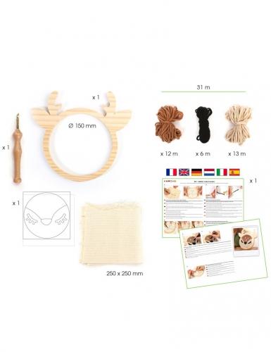 Kit cucito Punch Needle cervo-2