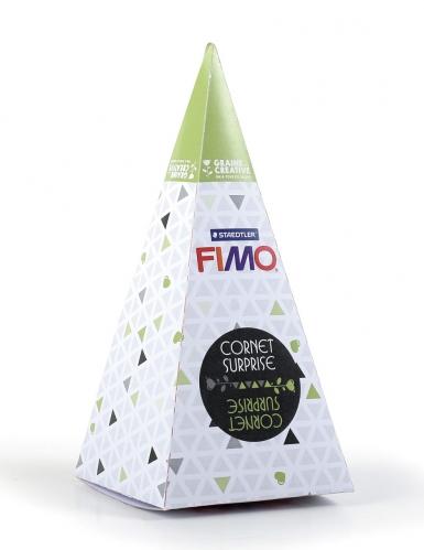 Cono sorpresa verde FIMO™ volpe