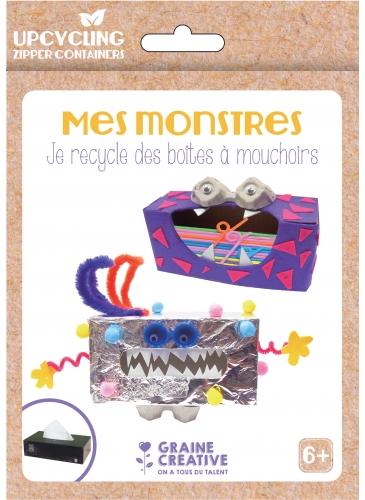 Kit fai da te riciclo scatole piccoli mostri