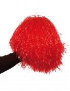 Pon pon rosso metallico