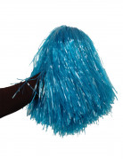 Pon pon blu metallico