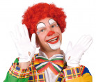 Parrucca da clown rossa per adulto