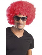 Parrucca riccia rossa voluminosa per adulti