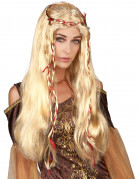 Parrucca medievale bionda per donna