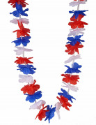 Collana Hawaii rossa bianca e blu