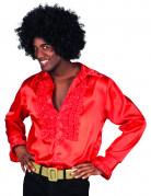 Camicia stile disco rossa da uomo